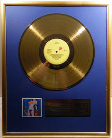 "The Rolling Stones - Undercover -  12"" german Stones record gold plated record by WWA Awards"