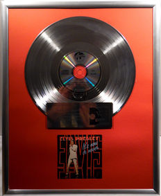 """Elvis Presley - It's Now or Never - 12"""" german World Star Collection platinum plated record with CD and cover by WWA gold Awards"""
