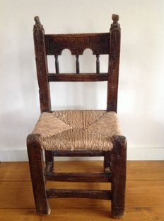 Spanish farmers chair with a rush seat