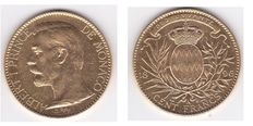Principality of Monaco – Albert I – 100 Francs, 1896