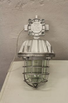 "Large ""Bully"" cage lamps - industrial / factory lights"