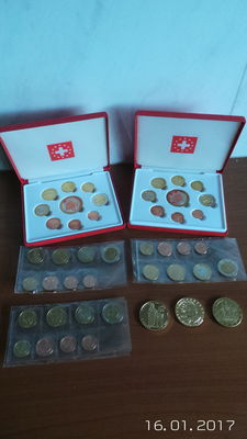 Europe – Probe sets 2003/2007 (5 pieces) + 5 Euro (Probe) 2004 (3 different sets)