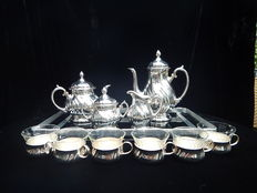 W.M.F 4 pieces silver plated coffee/tea set + accessories
