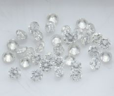 35 Round Brilliant Diamonds – 0.94 ct