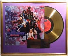 """The Les Humphries Singers - Mama Loo -  12"""" golden german Decca plated record with cover by WWA gold Awards"""