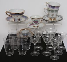 Old glasses and cups