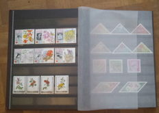 World - Lot with 3 albums. Theme - Animals, flowers, mushrooms, locomotive trains and sheep.
