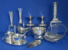 Lot of 11 silver plated objects