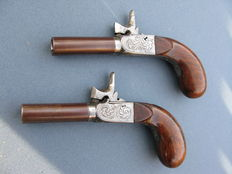 Pair of  travel pistols 19th century