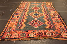 Beautiful antique Persian carpez, Kazak Kasak around 1910, made in Turkey, 84 x 128 cm