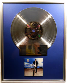 """Eros Ramazzotti - Dove c'e Musica - 12"""" german BMG platinum plated record with CD and cover by WWA gold Awards"""