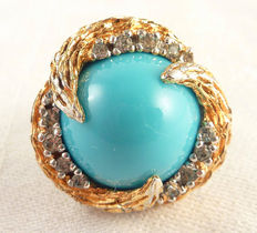 Beneditto Panetta vintage large cocktail ring New York 1960