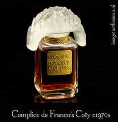Complice de Francois Coty perfume, clear crystal with glass stopper