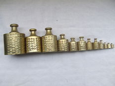 Twelve-calibrated weights - Netherlands - from ca. 1880