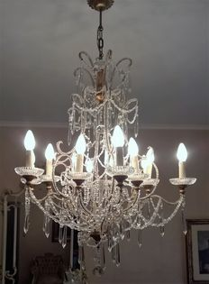 Bohemian crystal chandelier - Italy, 1971