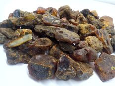 Natural Baltic amber, large, untreated 25-60 mm. 361 gr