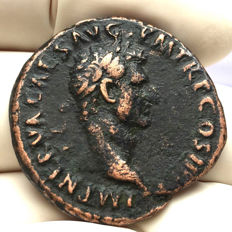 Roman Empire - Nerva (96-98 AD) AE As Libertas with the hat of Liberty / 96-98 AD