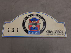 Vintage Original Hard Plastic Board Licence Plate for Morgan Sports Car Club of Holland 1972 - 1987 - in Excellent Vintage Condition