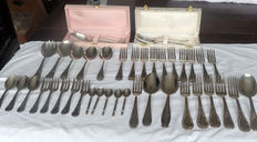 41-piece silver-plated flatware - mid 20th century.