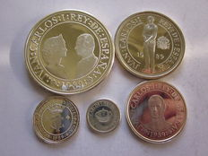 Spain – 5th Centennial of the Discovery of America – Lot of 5 different coins – 1989. Madrid.