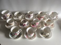 12 piece English serving set with Cups & saucers
