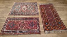 Lot of 3 beautiful Persian rugs – Very good condition – BIDS FROM €1!!!