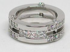 Diamanten memory ring 1,68 ct