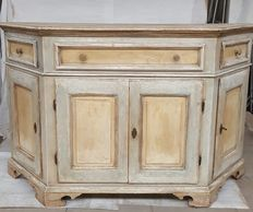 Decorative large side table, in pastel shades, 1st half of  20th century, Italy.