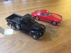 Franklin Mint - Scale 1/24 - Ford Pick up 1940 and Mercedes Benz 300 SL 1954