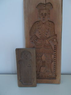 Hand-carved old speculaas boards - The Netherlands - ca. 1950