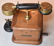 Antique crank telephone