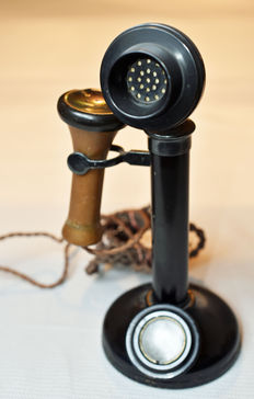 Antique standing telephone
