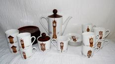 Mitterteich porcelain complete coffee set with antique clocks