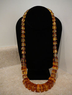 Antique vintage honey amber necklace