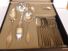 Case with six place settings and serving cutlery model 454.Gero Zeist, design Georg Nielsson 1930 - 1957