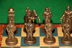 Muslims and Christians metal chess