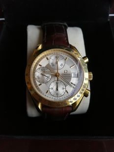 Omega Speedmaster- men's watch - automatic chronograph - yellow gold.