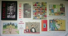 Hergé - Diverse items - o.a Essay RG + De eerste reacties + Post in Honkong (Rode versie) - sc/hc (1994/1999)