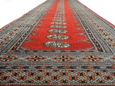"""Bouchara – 280 x 81 cm – """"Finely knotted Persian runner in very beautiful condition"""" – Please note! No reserve, bidding starts at €1"""