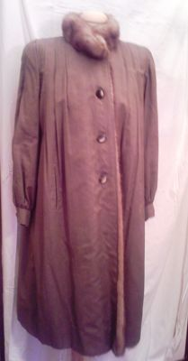 Wild mink-lined coat, made in Italy