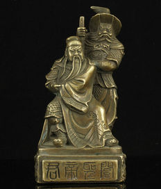 Bronze Statue Guan Yu and his helper Zhang Fei  -  China  -  second half 20th century
