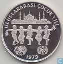"Turkije 500 lira 1979 (PROOF - PIEDFORT) ""UNICEF and I.Y.C."""
