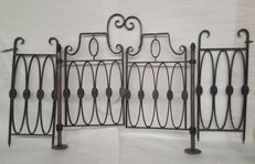 Nice set of sturdy wrought iron fencing - France - second half 20th century