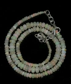 Welo opal necklace - 925 silver