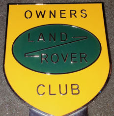 LAND ROVER Owners Club BADGE - Never mounted