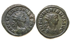 Lot of Two Antoniniani- Carinus (282-283) and Numerian (283-284).