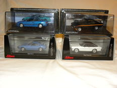 Schuco / Opel Collection - Scale 1/43 - Lot with 4 models: 4 x Opel
