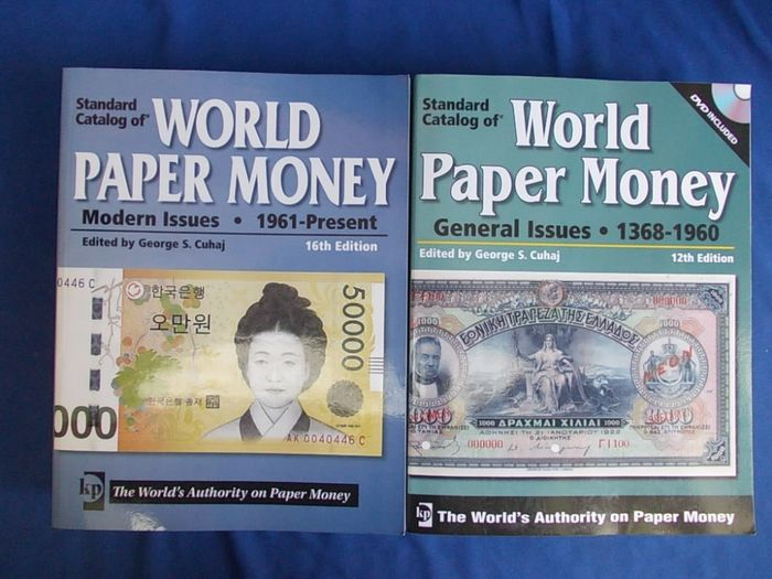 "Krause Catalogs ""World Paper Money General Issues 1368 - 1960"" and "" World Paper Money Modern Issues 1961-Present"""