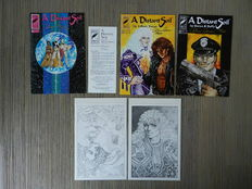 "A Distant Soil Vol.2 # 7, 8 and 9 + 2 art prints - 5x Signed by Colleen Doran and limited to 450 copies + ""Subscribe"" folder - 6x sc - (1994)"