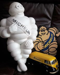 3 Michelin items - figure, VW van and plaque - 2nd half of 20th century